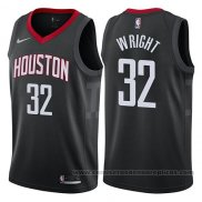 Camiseta Houston Rockets Brandan Wright #32 Statement 2017-18 Negro