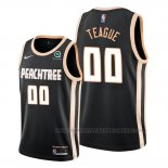 Camiseta Atlanta Hawks Jeff Teague #00 Ciudad Negro