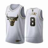 Camiseta Golden Edition Chicago Bulls Zach Lavine #8 2019-20 Blanco