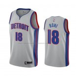 Camiseta Detroit Pistons Jordan Bone #18 Statement 2020 2021 Gris