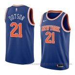 Camiseta New York Knicks Damyean Dotson #21 Icon 2018 Azul