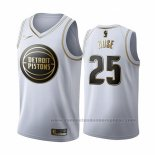 Camiseta Golden Edition Detroit Pistons Derrick Rose #25 2019-20 Blanco