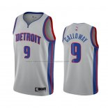 Camiseta Detroit Pistons Langston Galloway #9 Statement 2020 2021 Gris