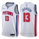 Camiseta Detroit Pistons Brice Johnson #13 Association 2017-18 Blanco