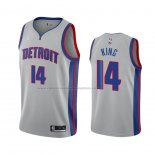 Camiseta Detroit Pistons Louis King #14 Statement 2020 2021 Gris