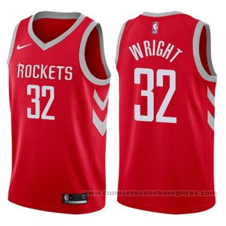 Camiseta Houston Rockets Brandan Wright #32 Icon 2017-18 Rojo