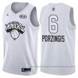 Camiseta All Star 2018 New York Knicks Kristaps Porzingis #6 Blanco