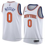 Camiseta New York Knicks Emmanuel Mudiay #0 Association 2018 Blanco