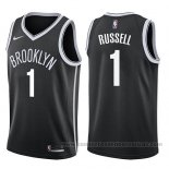 Camiseta Brooklyn Nets D'angelo Russell #1 Icon 2017-18 Negro